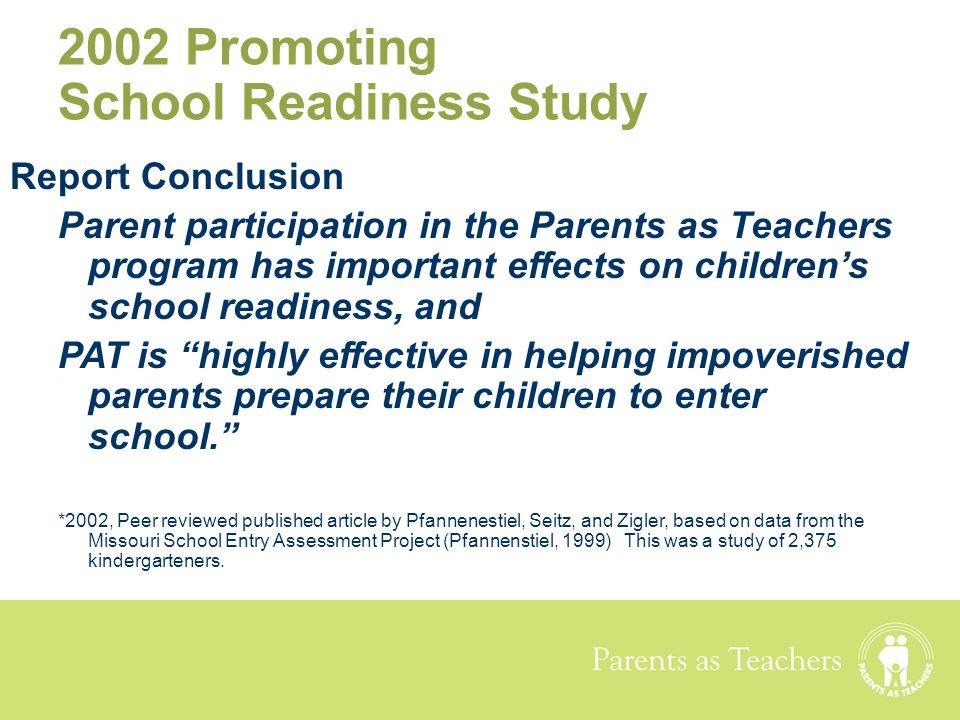 2002 Promoting School Readiness Study