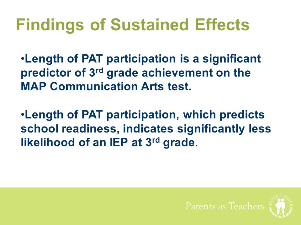 Findings of Sustained Effects