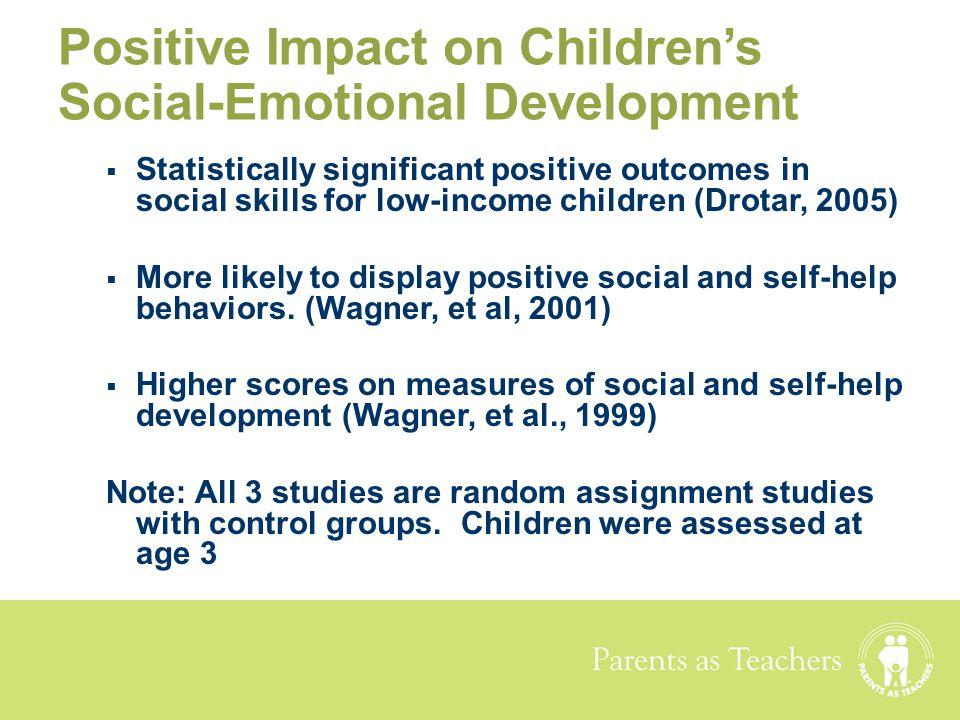 Positive Impact on Children's Social-Emotional Development