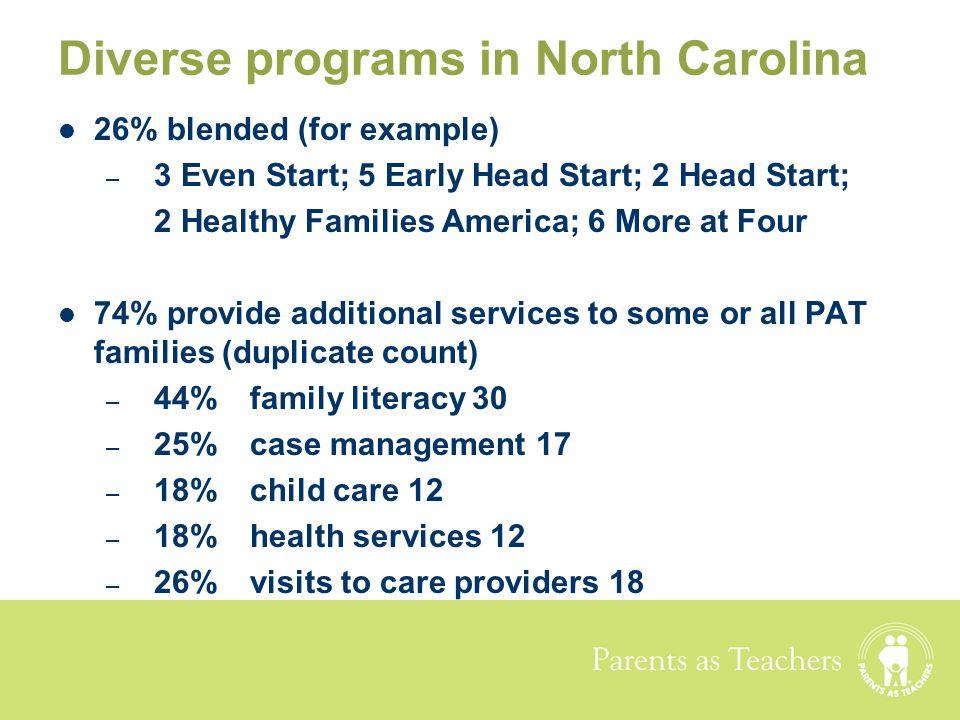Diverse programs in North Carolina
