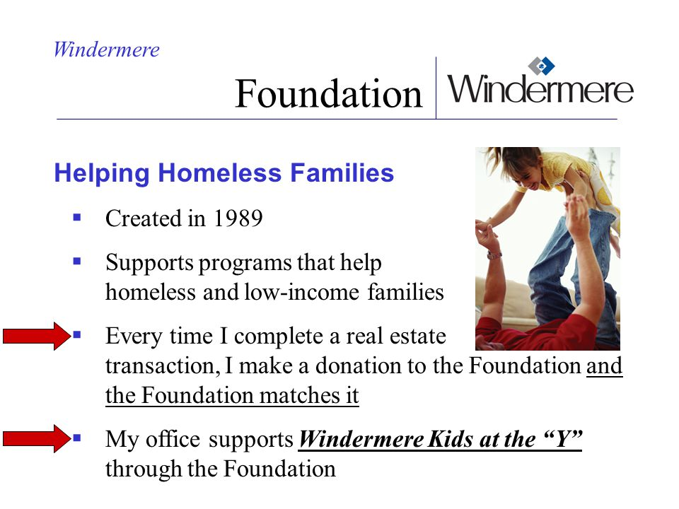 Foundation Helping Homeless Families Created in 1989