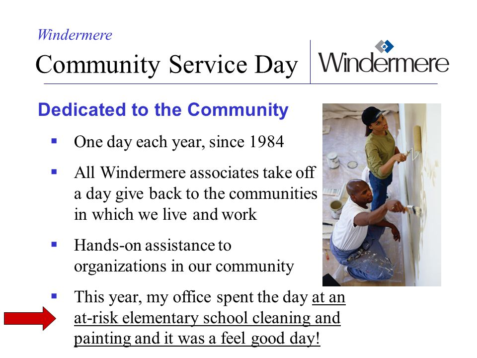 Community Service Day Dedicated to the Community