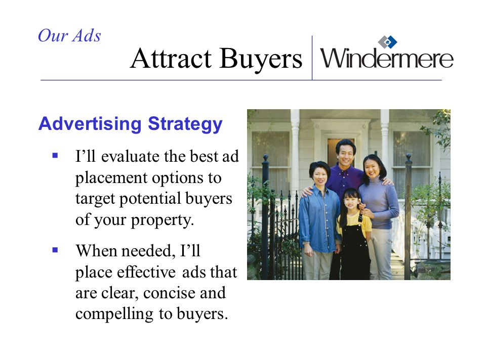 Attract Buyers Our Ads Advertising Strategy