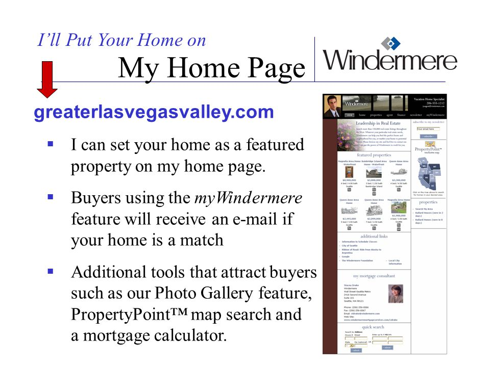 My Home Page I'll Put Your Home on greaterlasvegasvalley.com