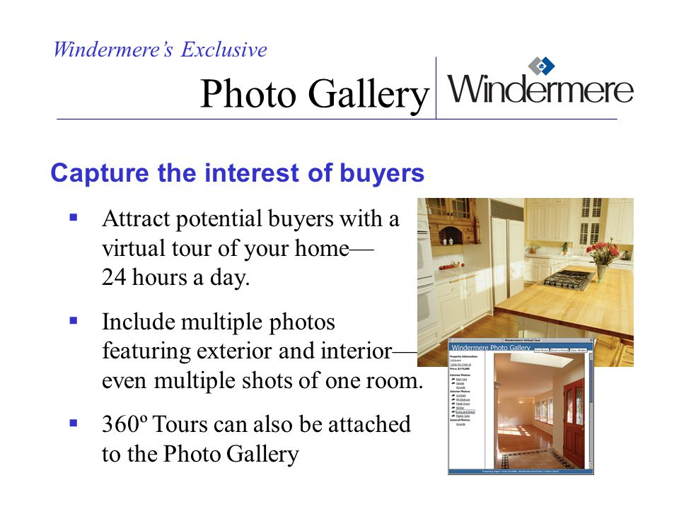 Photo Gallery Capture the interest of buyers