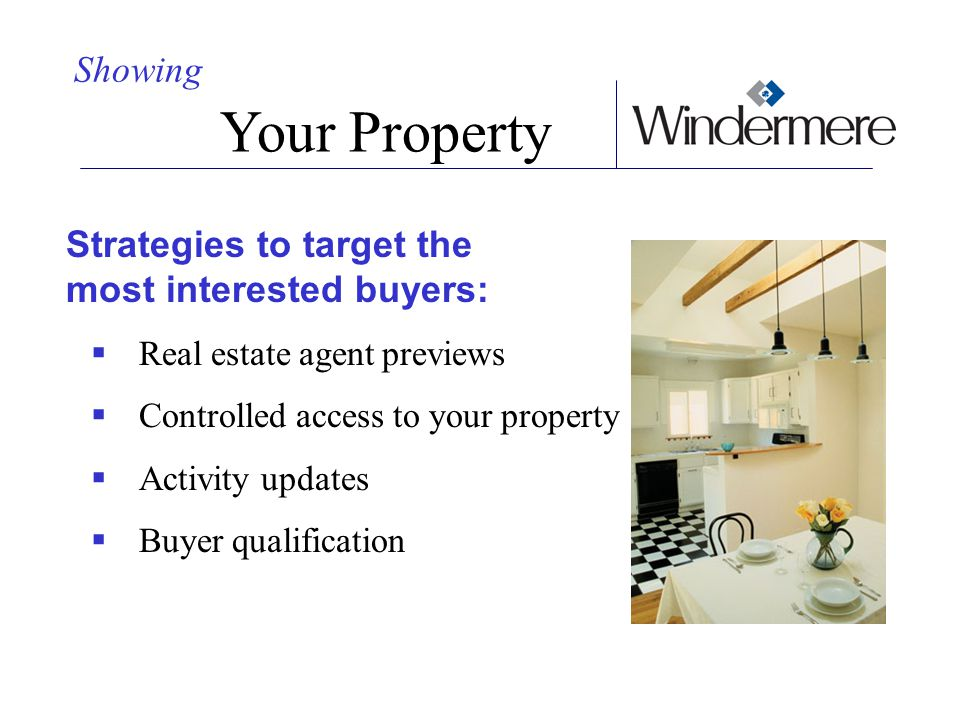 Your Property Showing Strategies to target the most interested buyers: