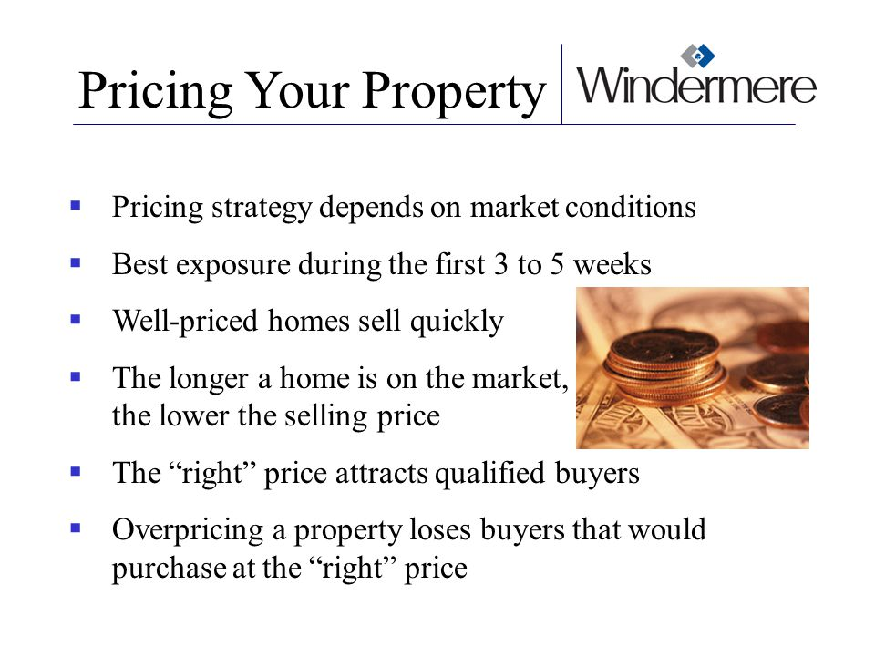 Pricing Your Property Pricing strategy depends on market conditions