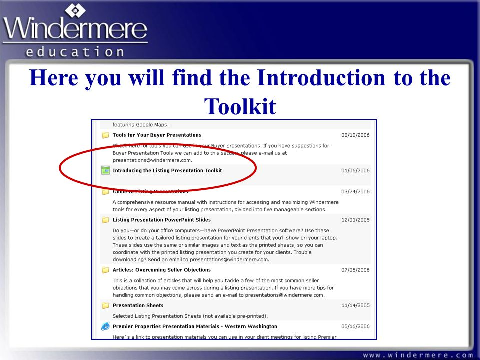 Here you will find the Introduction to the Toolkit