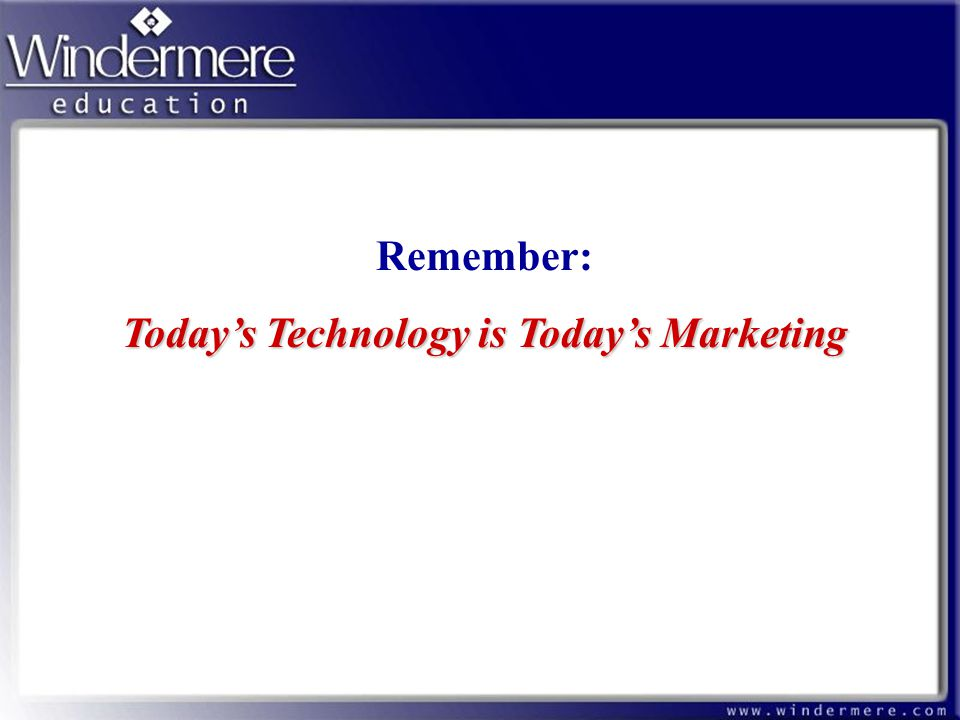 Today's Technology is Today's Marketing