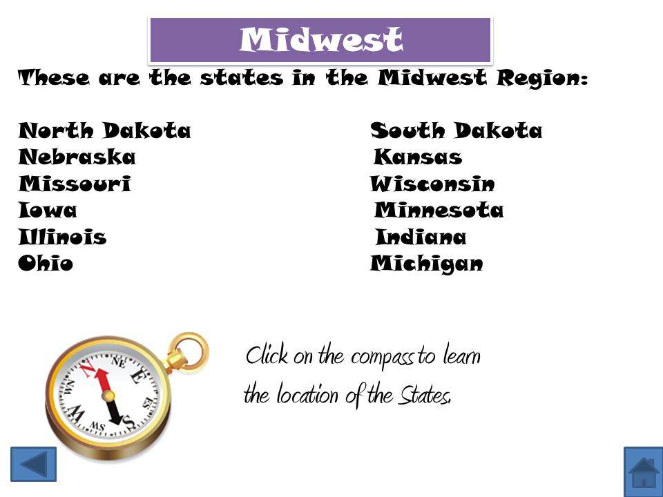 Click on the compass to learn the location of the States.