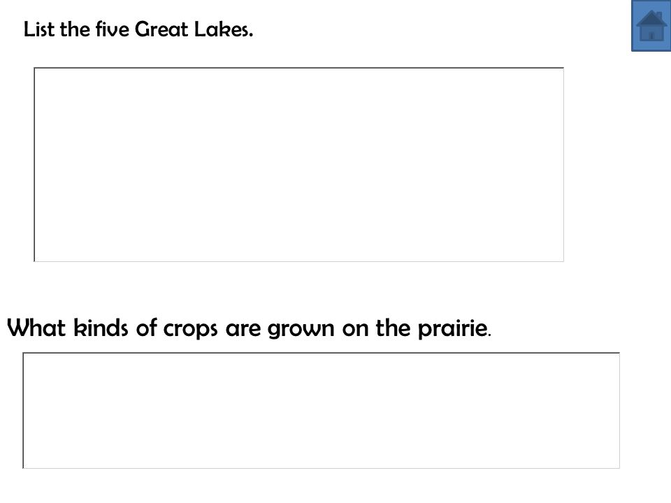 What kinds of crops are grown on the prairie.