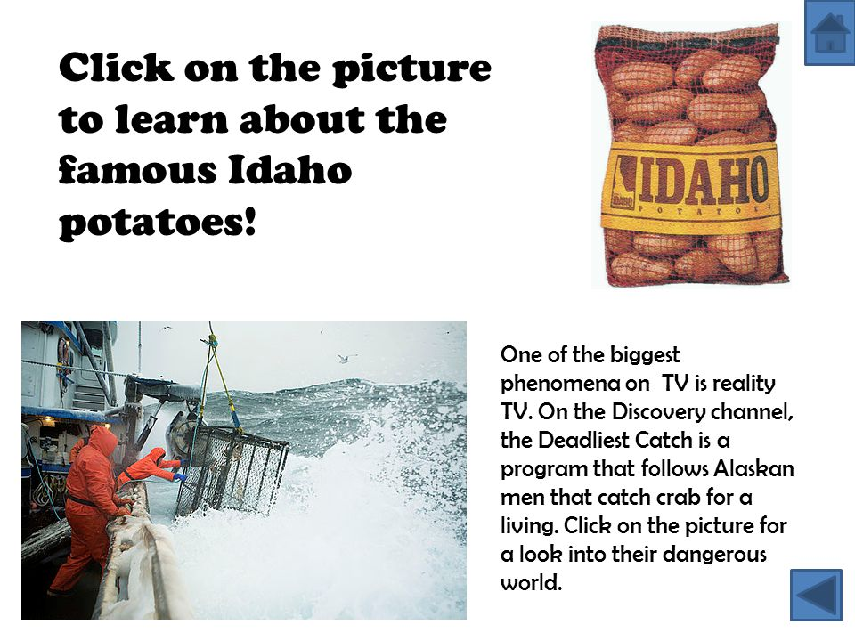 Click on the picture to learn about the famous Idaho potatoes!