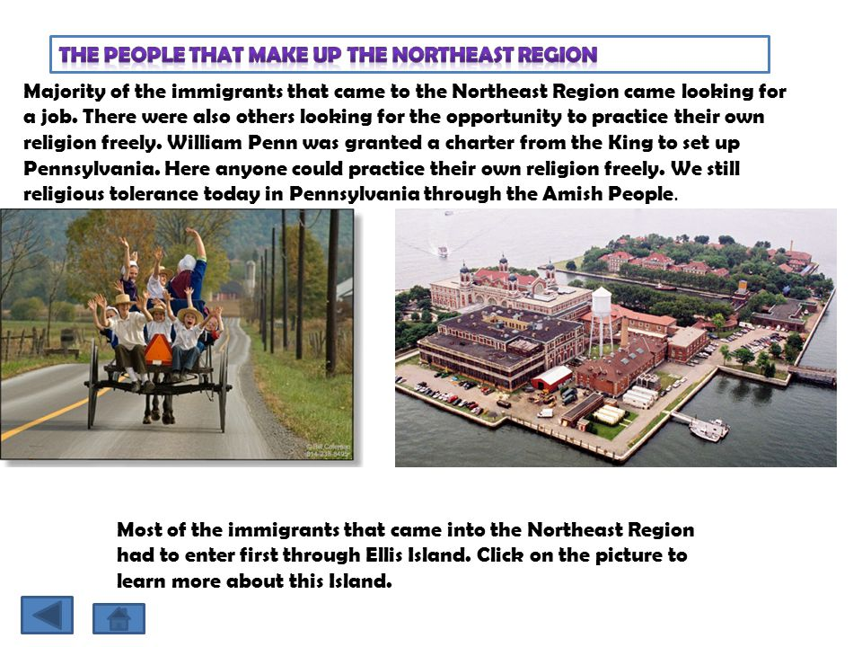 The People that make up the Northeast Region