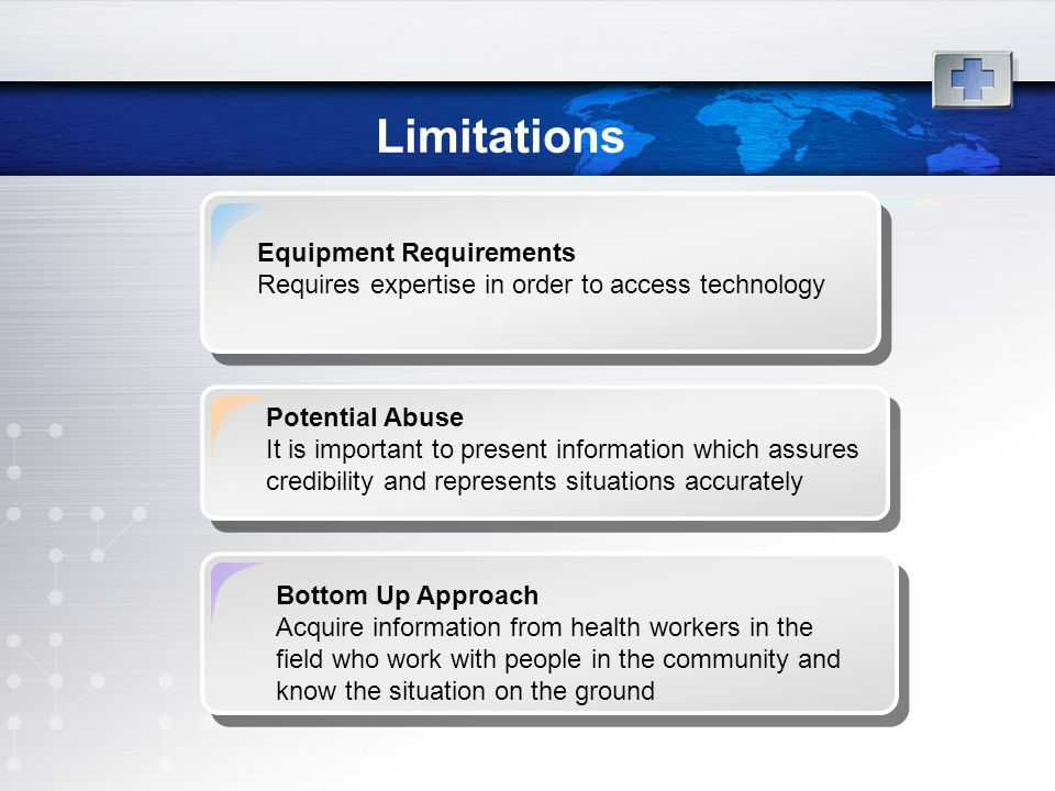 Limitations Equipment Requirements