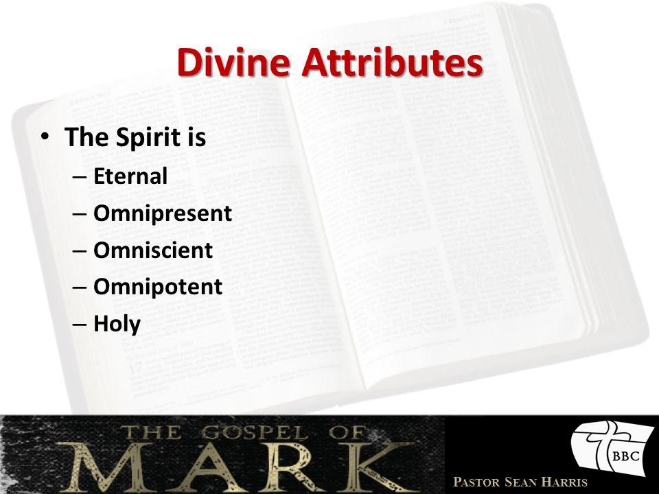 Divine Attributes The Spirit is Eternal Omnipresent Omniscient