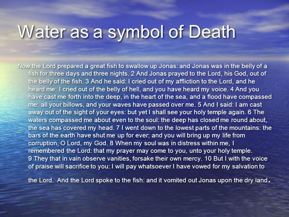 Water as a symbol of Death