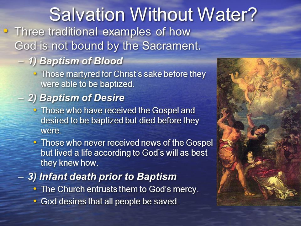 Salvation Without Water