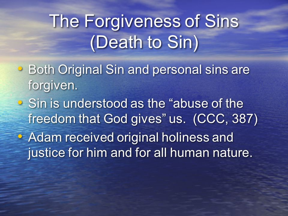 The Forgiveness of Sins (Death to Sin)