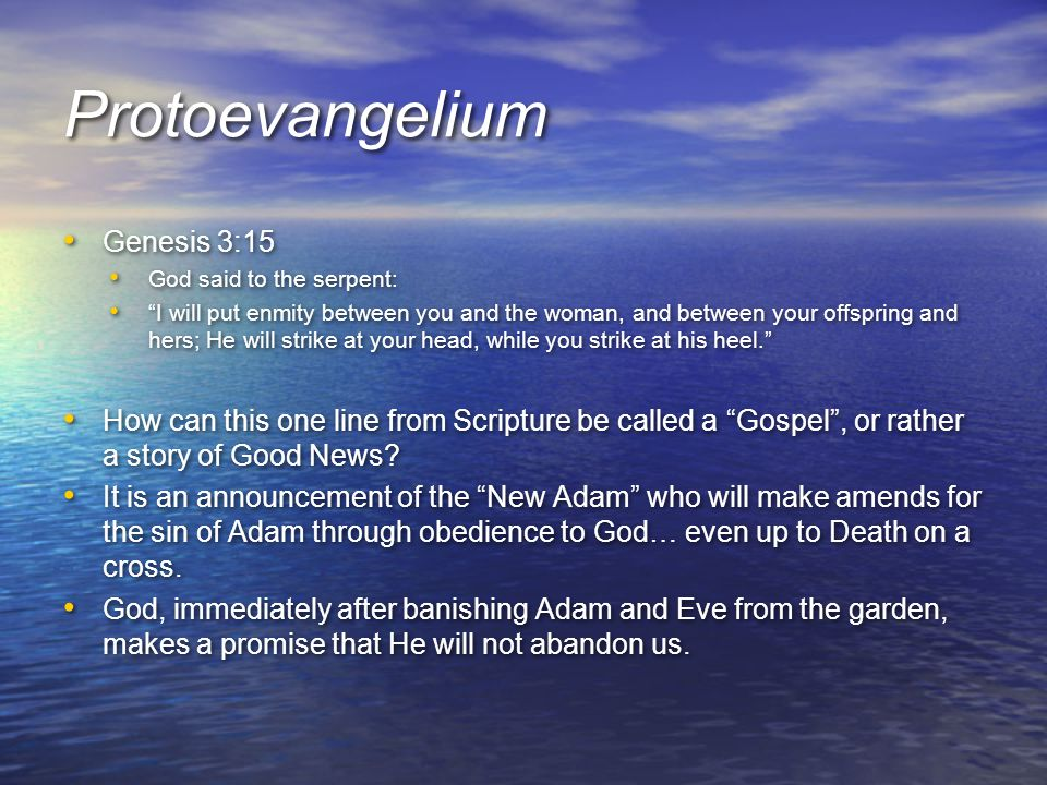 Protoevangelium Genesis 3:15