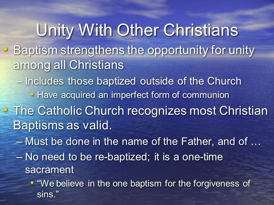 Unity With Other Christians
