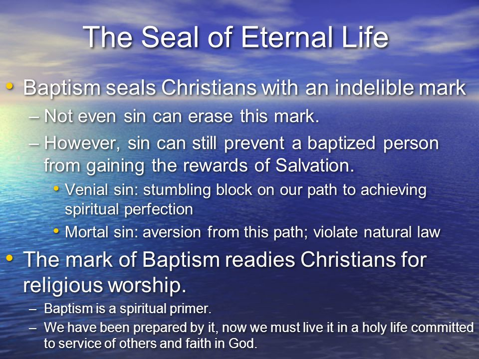 The Seal of Eternal Life