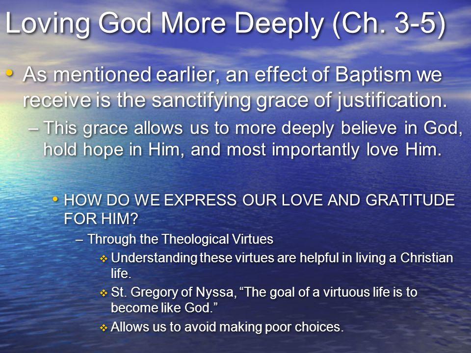 Loving God More Deeply (Ch. 3-5)