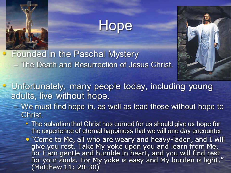 Hope Founded in the Paschal Mystery