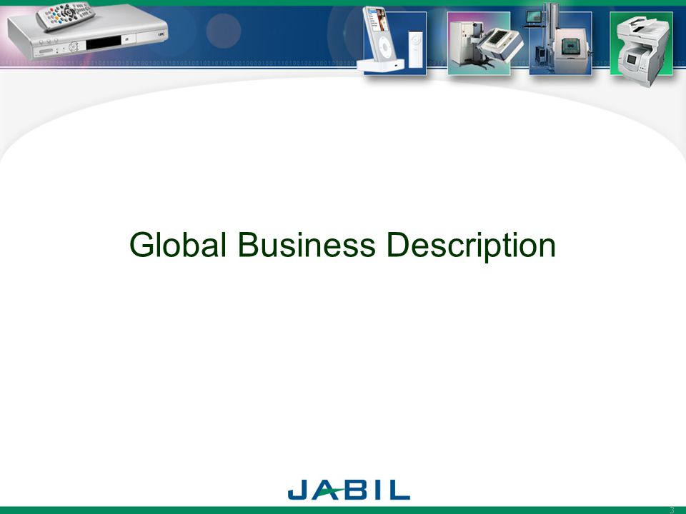 Global Business Description