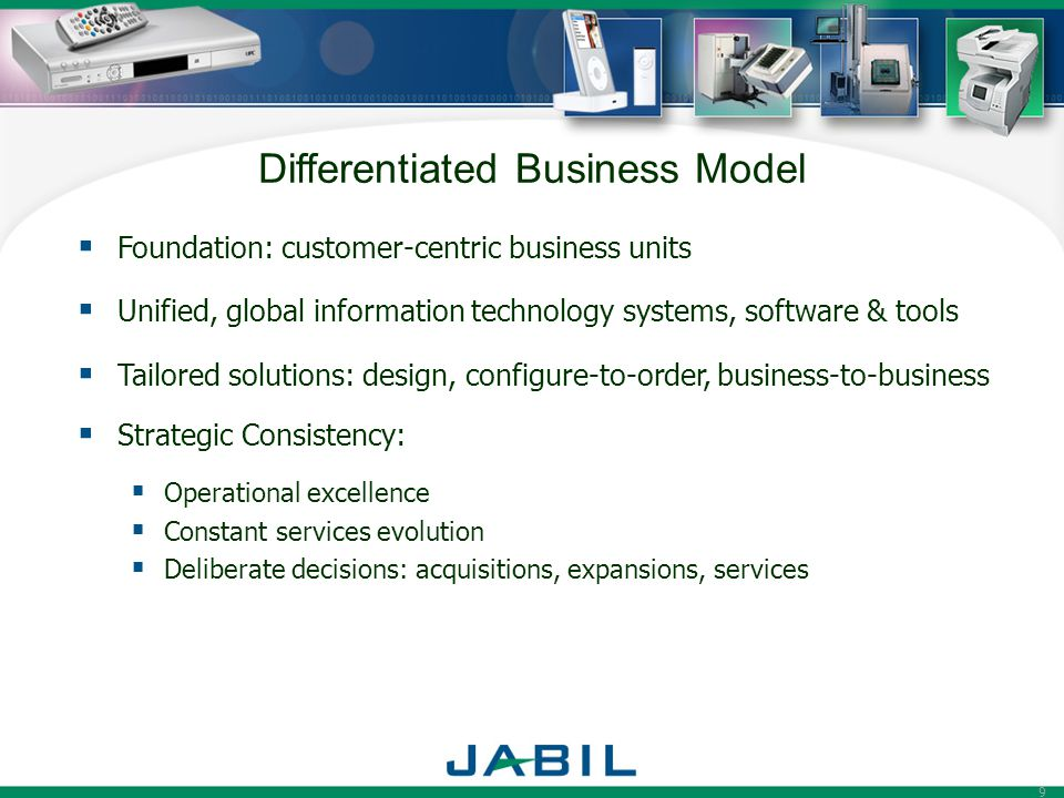 Differentiated Business Model