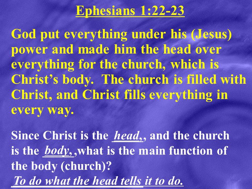 Ephesians 1:22-23