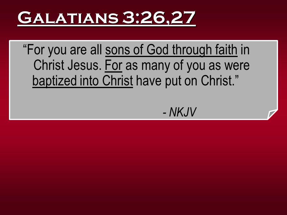 Galatians 3:26,27