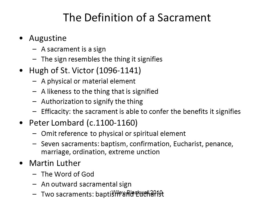 The Definition of a Sacrament