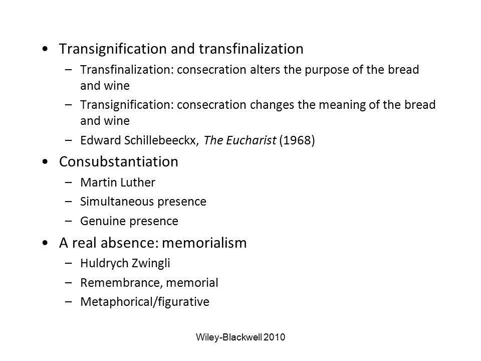 Transignification and transfinalization
