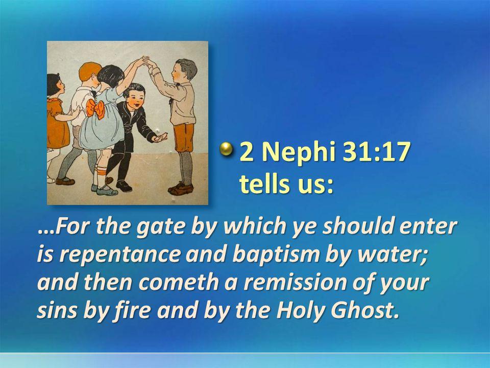 2 Nephi 31:17 tells us: