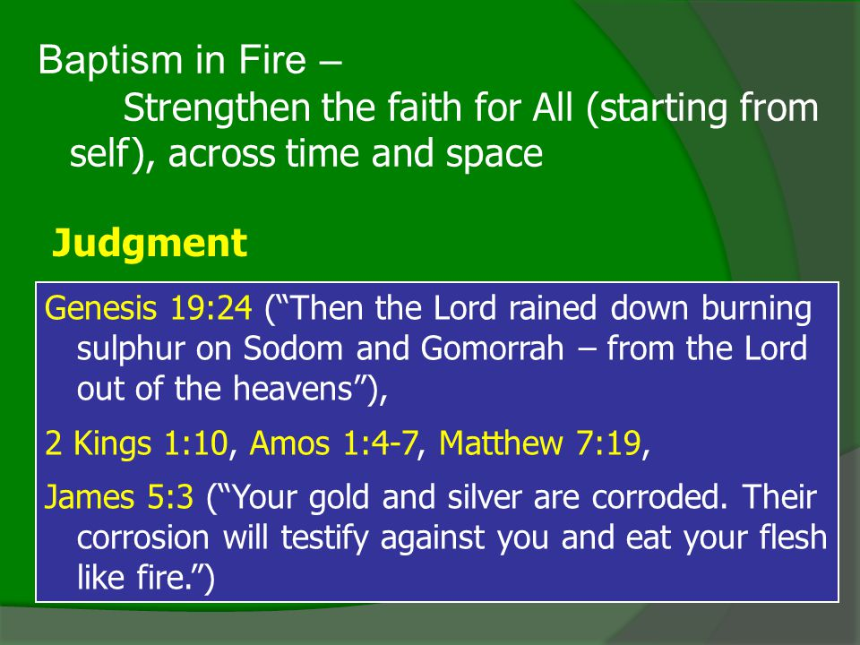 Baptism in Fire – Judgment