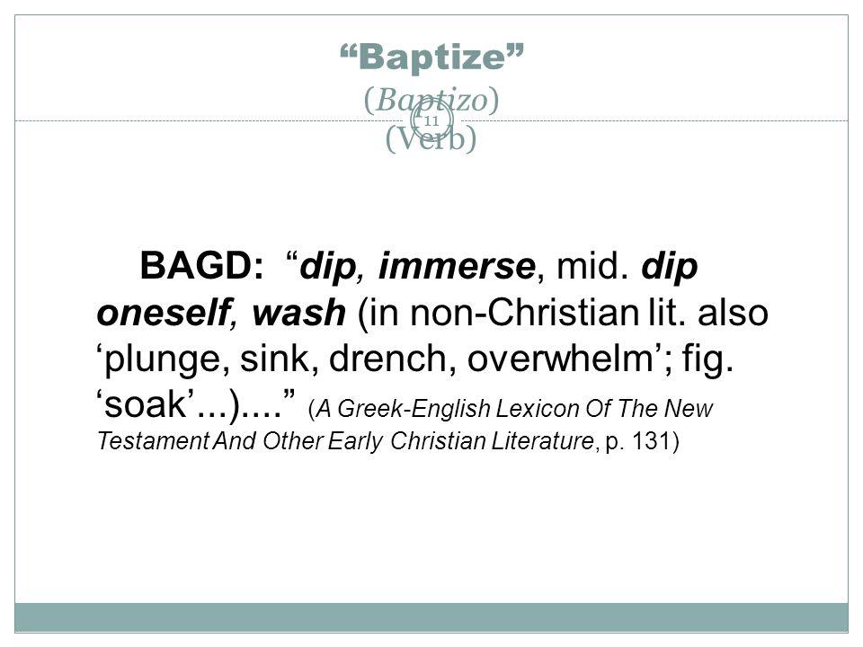 Baptize (Baptizo) (Verb)
