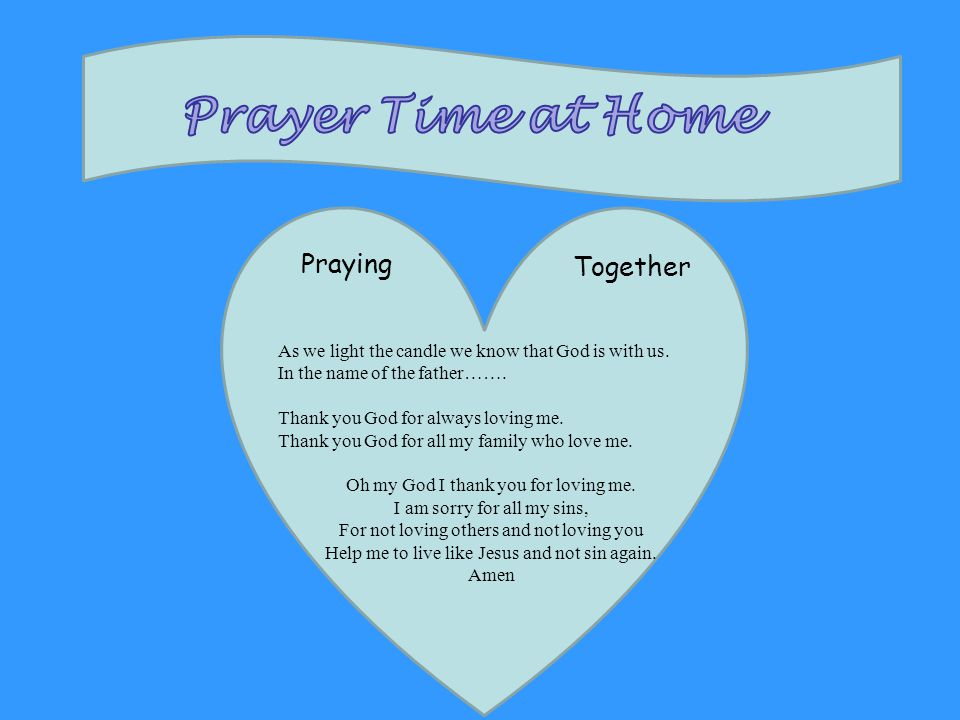 Prayer Time at Home Praying Together