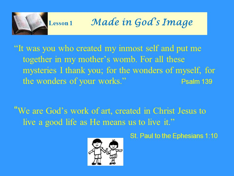 Lesson 1 Made in God's Image