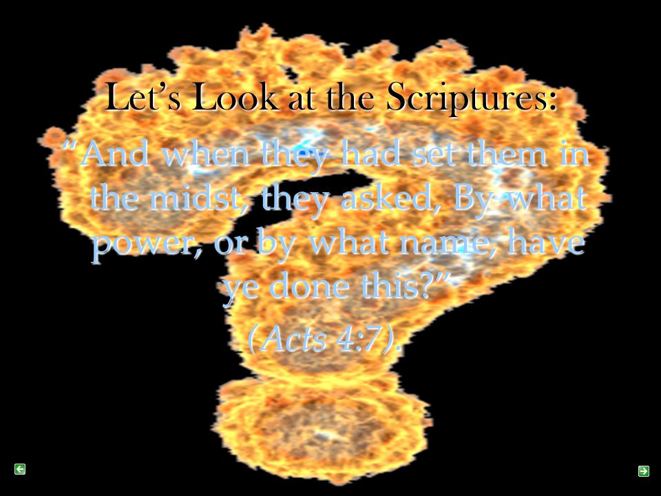 Let's Look at the Scriptures:
