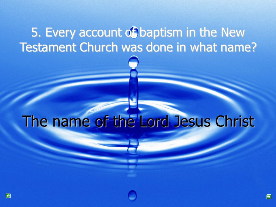 The name of the Lord Jesus Christ