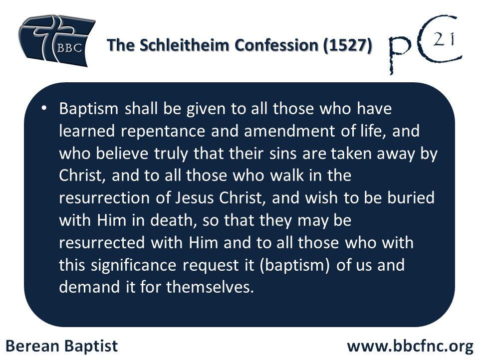 The Schleitheim Confession (1527)