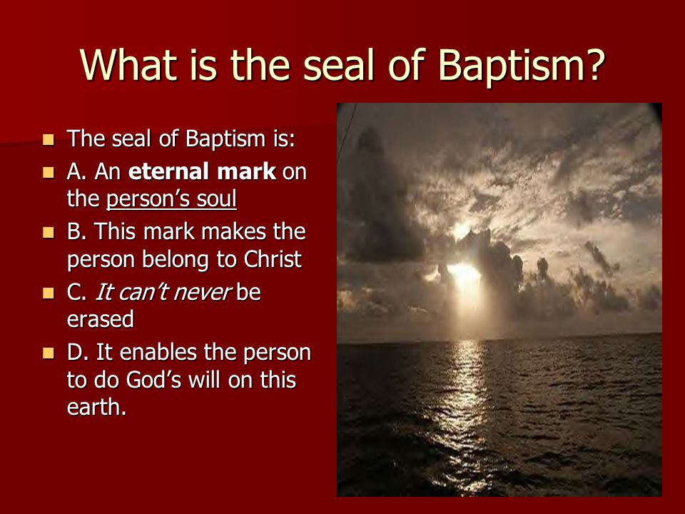 What is the seal of Baptism