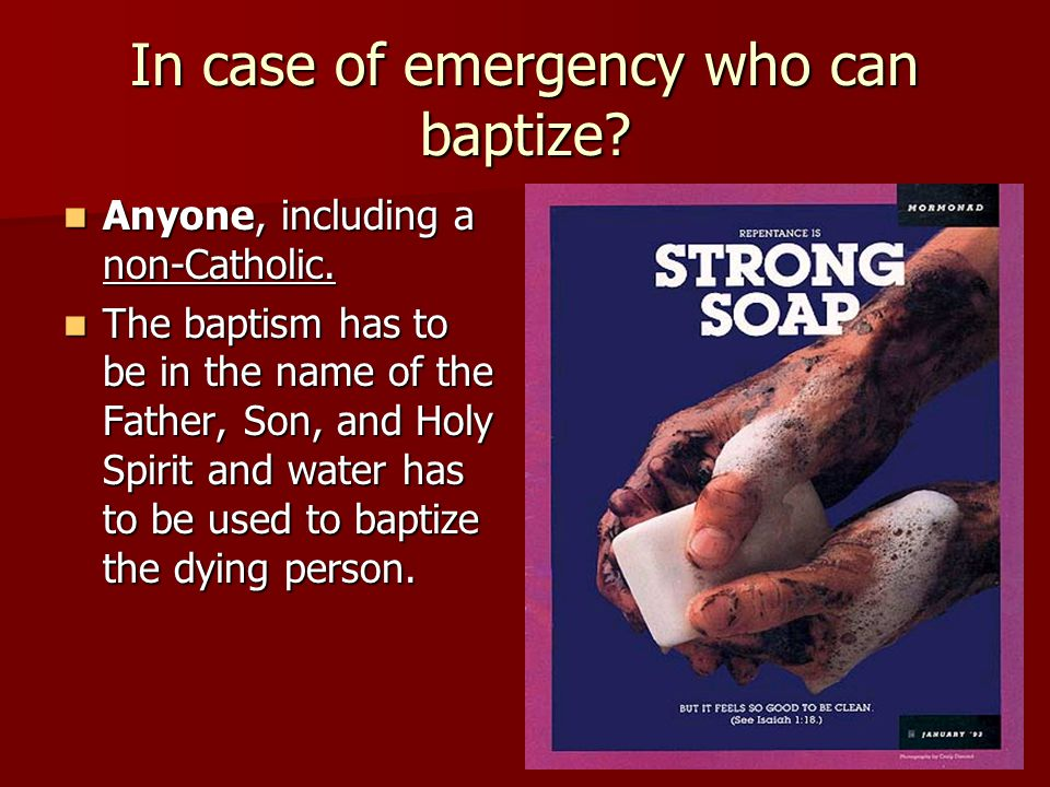 In case of emergency who can baptize
