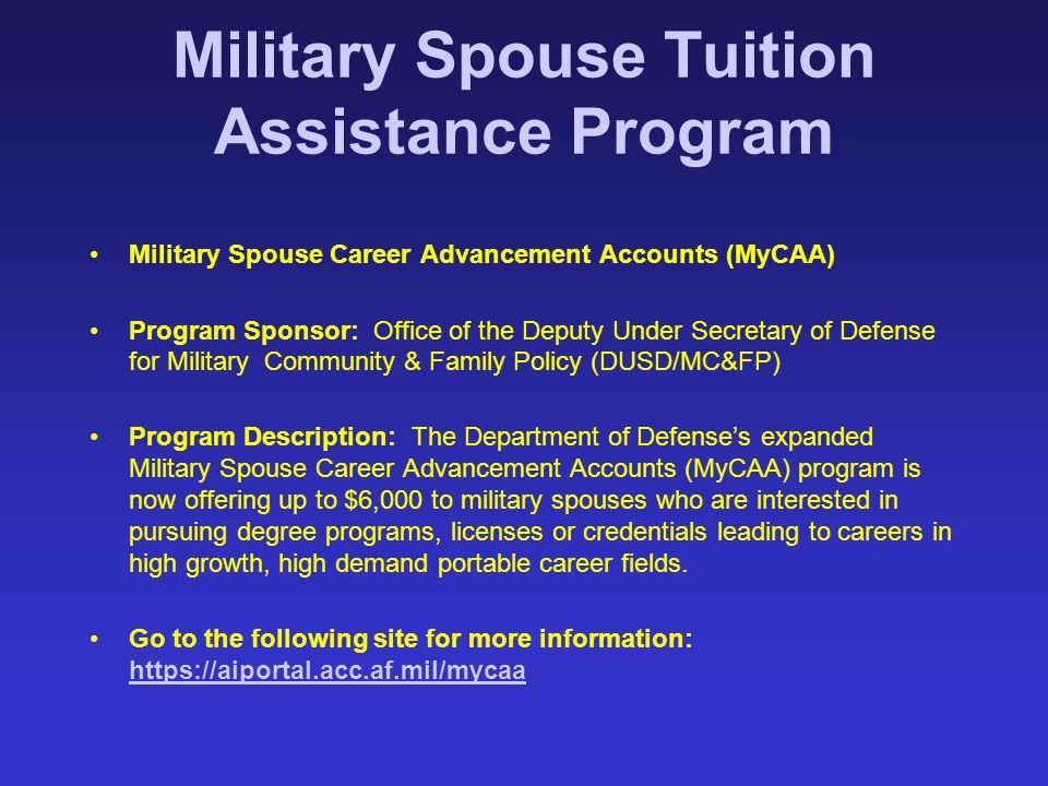 Military Spouse Tuition Assistance Program