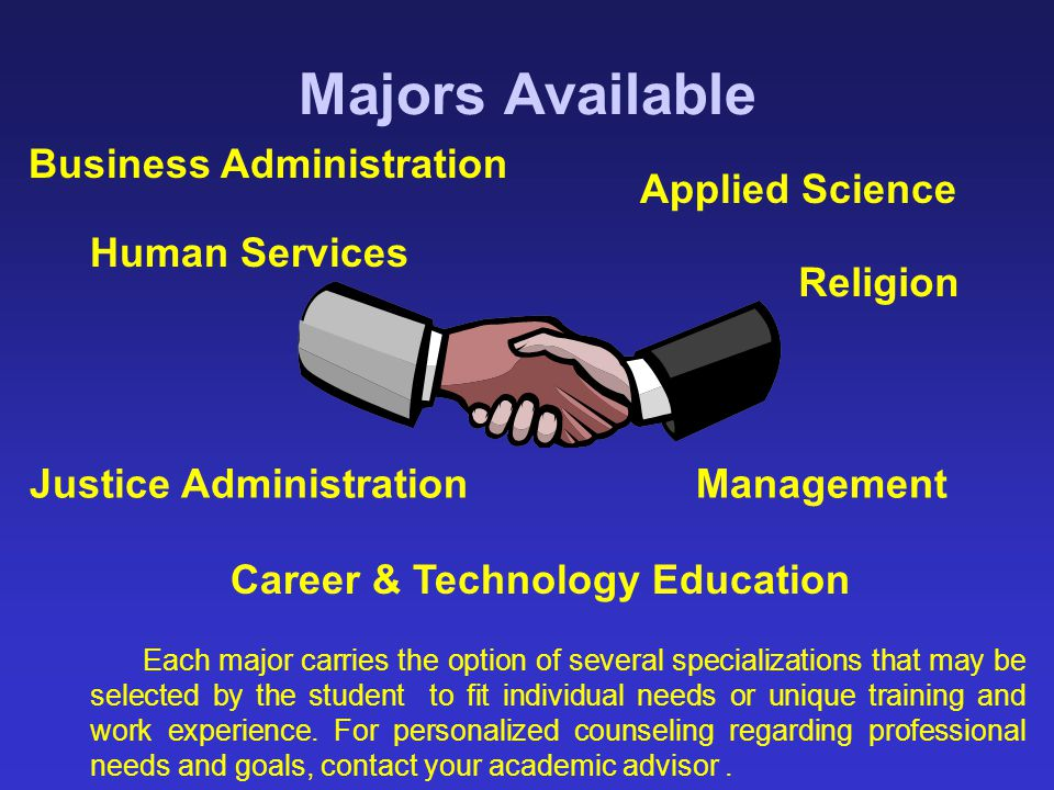 Majors Available Business Administration Applied Science