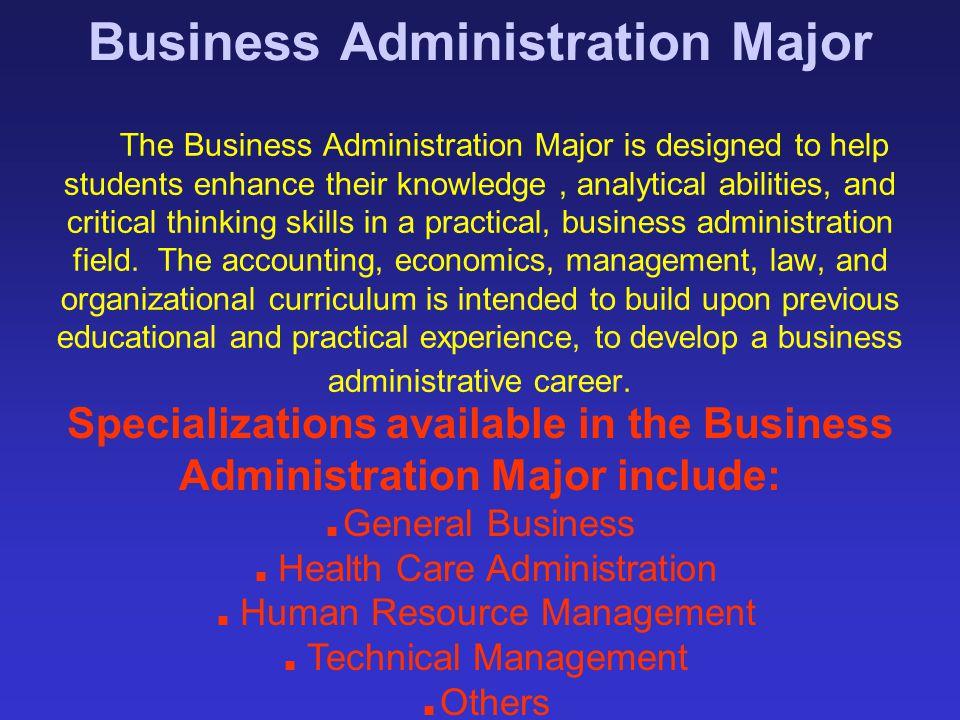 Business Administration Major