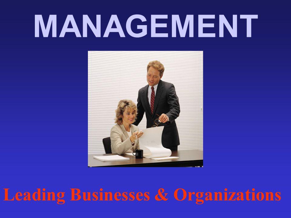 MANAGEMENT Leading Businesses & Organizations