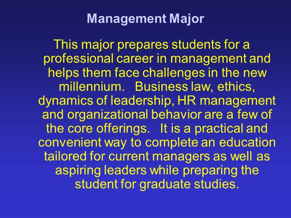 Management Major
