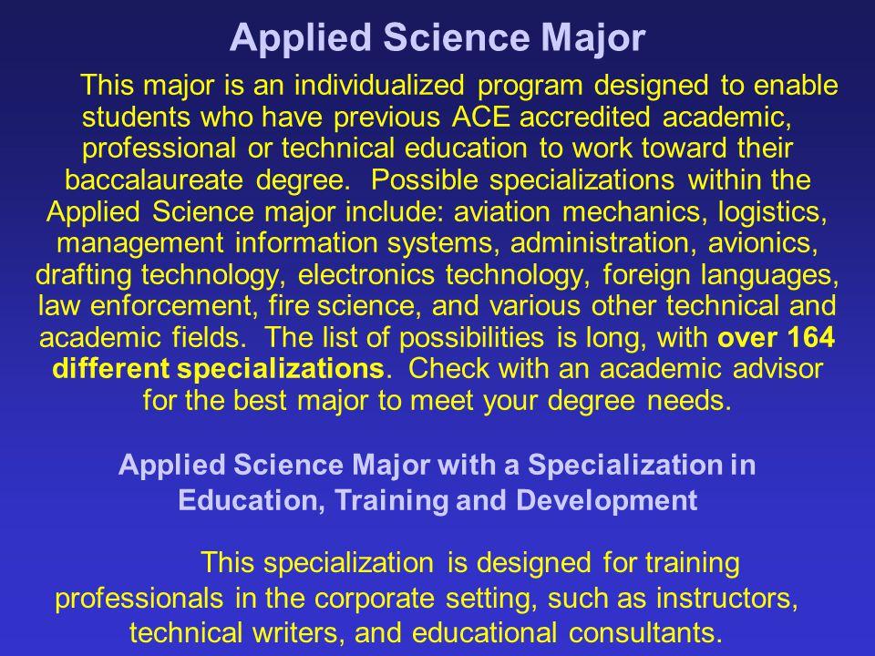 Applied Science Major