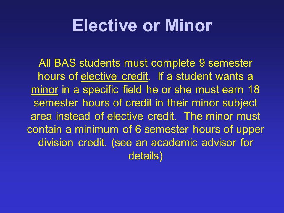 Elective or Minor